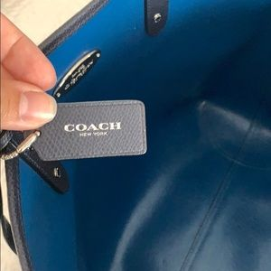Coach Bags - Navy COACH Tote with wristlet